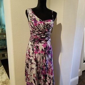 NWT Andrew Marc one shoulder dress